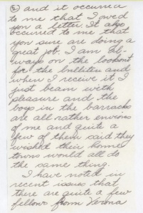 The following 4 page letter was written by Edwin Smoot on September 1, 1944, 15 days before his final fatal flight.  Sadly, Edwin indicates his wish to be home by Christmas as his required flight time was coming to an end.